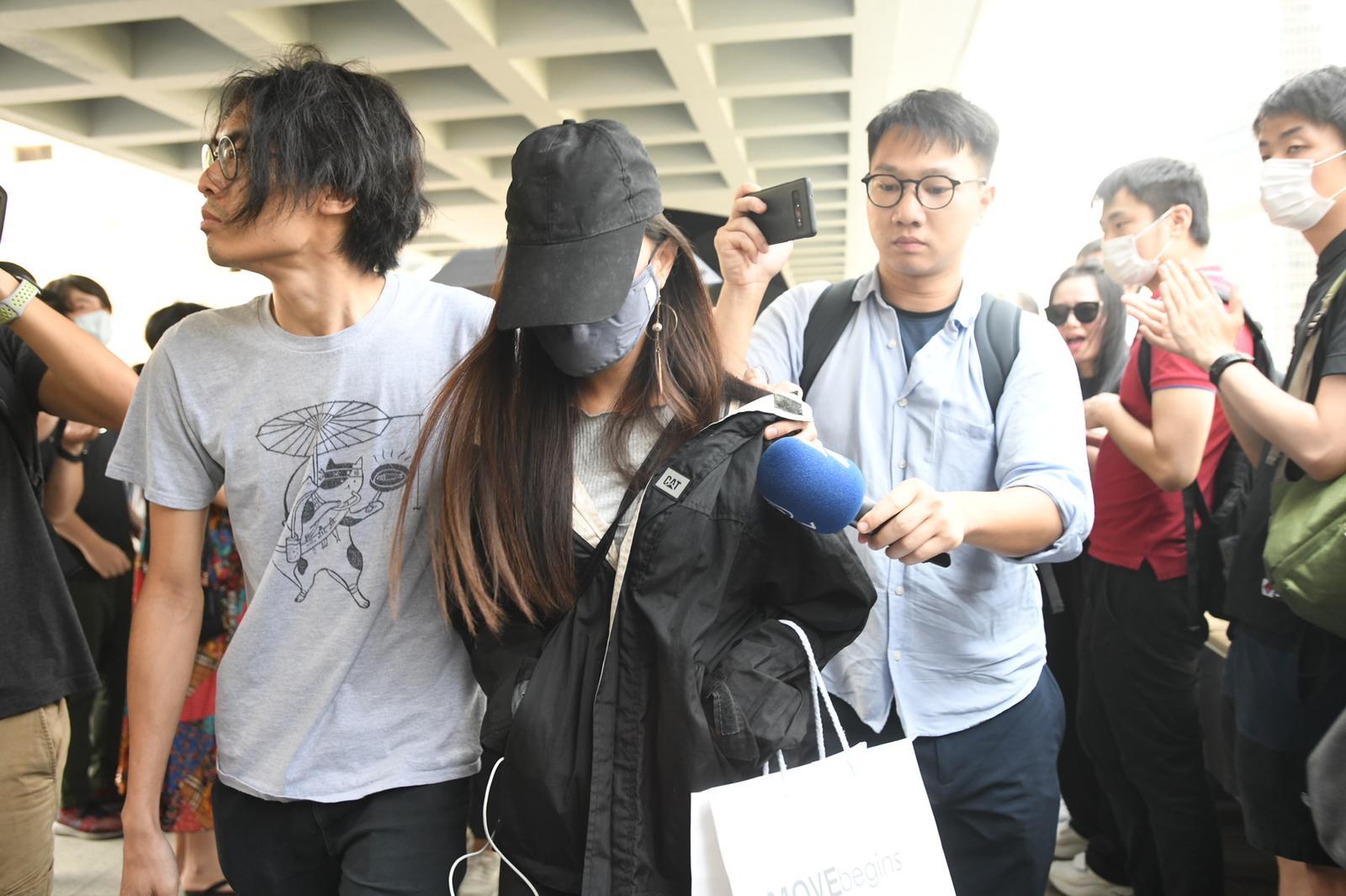 爆眼女示威者「K」胞妹。