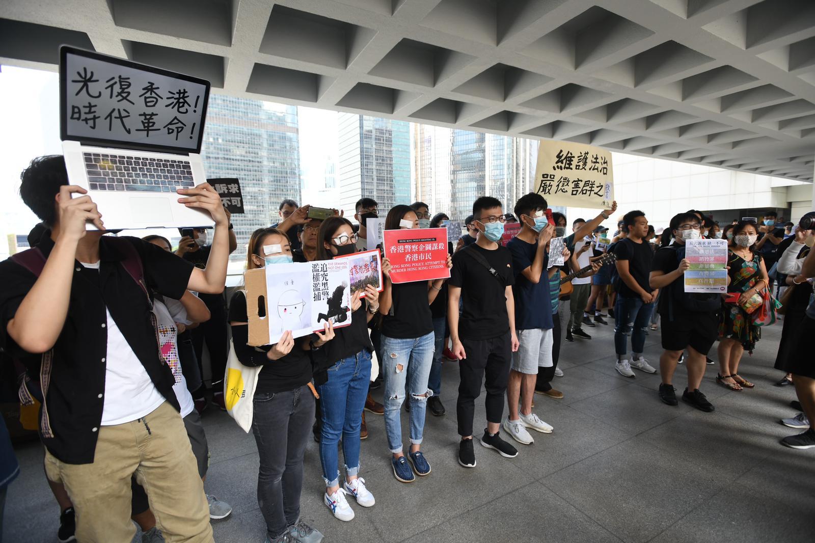 有近半百市民到場聲援。