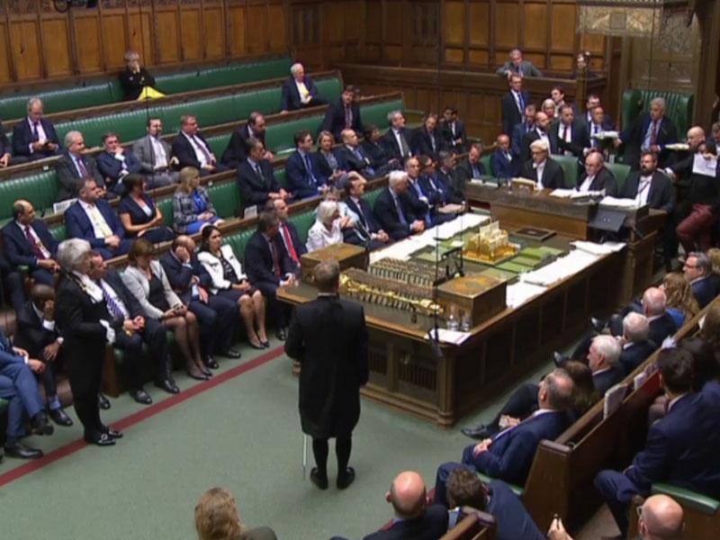 英國國會自星期二起休會,直至下月十四日。AP資料圖片