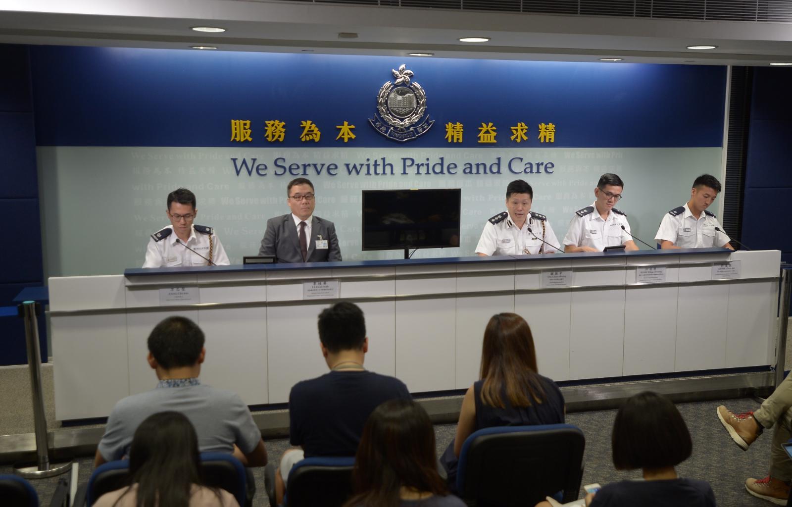 警方表示,在過往活動中,發現疑似假記者的四類人士。
