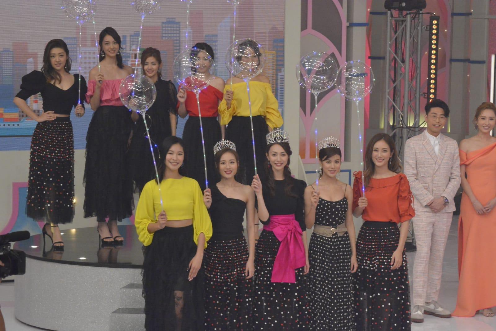 應屆港姐黃嘉雯、王菲、古佩玲當選後即有機會在大型節目首次亮相。
