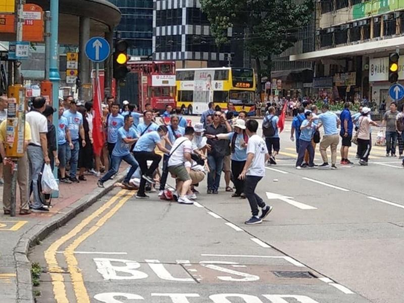 兩名男子遇襲。網民#7436圖片