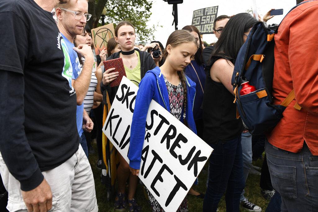 瑞典環保少女通貝里。AP