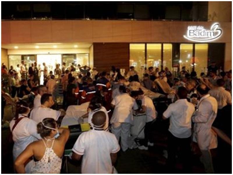 里約私人醫院發生火災。網圖