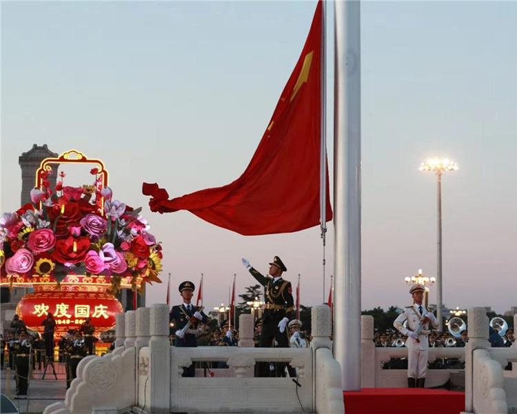 北京市正為十一國慶作準備。新華社