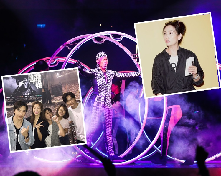 城城巡唱台北站去到第二晚,捧場嘉賓有邱淑貞、林心如等。(ig/網圖)
