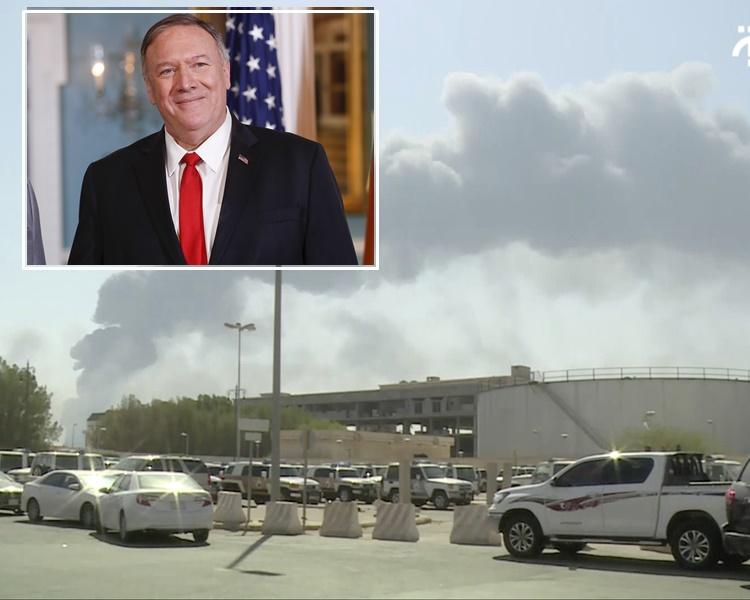 蓬佩奧指責沙特油田遇襲是伊朗所為。AP