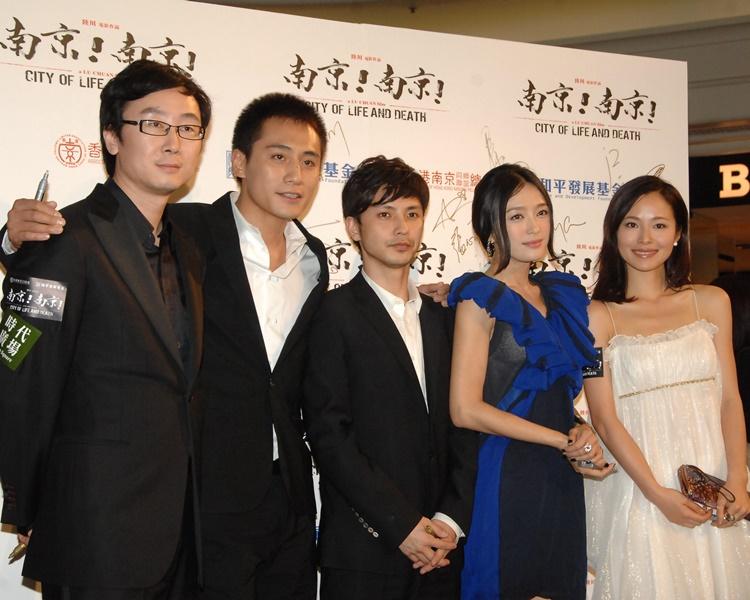 秦嵐曾為《南京》一片來港宣傳。
