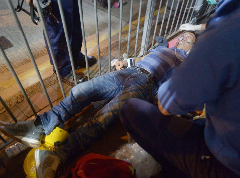 在康威商場發生肢體衝突。
