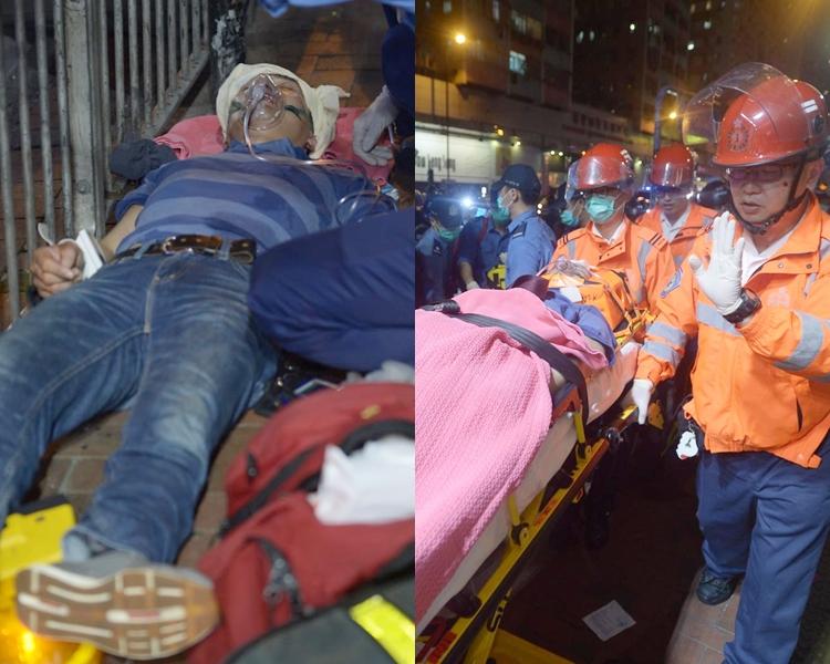 男子被攻擊致受傷倒地。