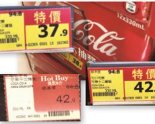 消委會:4大超市減價標示含糊 「惠康」「Market Place 」逾8成貨長期扮減價