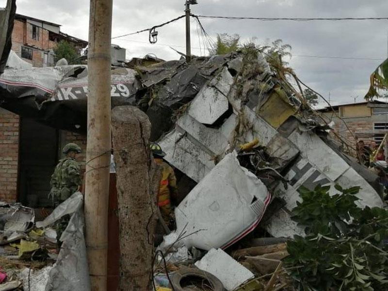 哥倫比亞有客機墜毀7人死亡。(網圖)