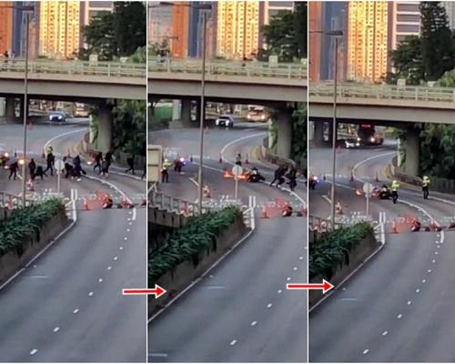 【修例風波】斥示威者向交警擲3汽油彈想「攞命」 警方指危急下若開槍是合理