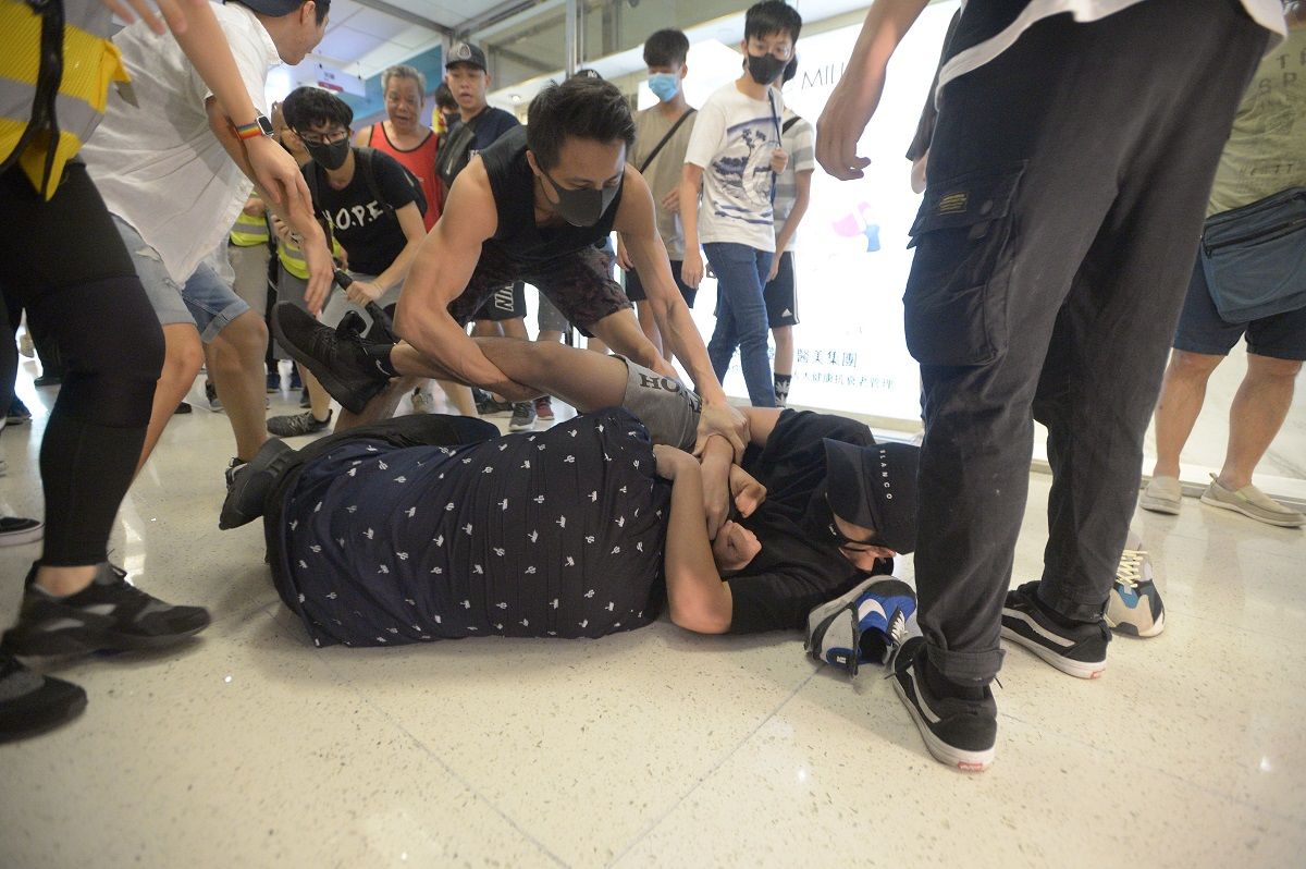 淘大花園商場上周六爆發兩批人群毆。資料圖片