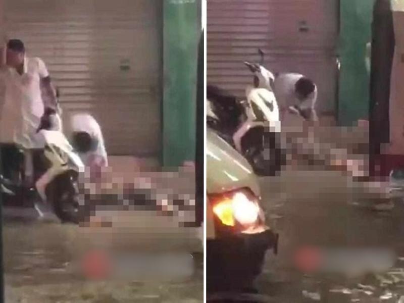 一名女學生從三輪車下來時突然倒下,好心男子見狀想救人,不料雙雙身亡。 網圖