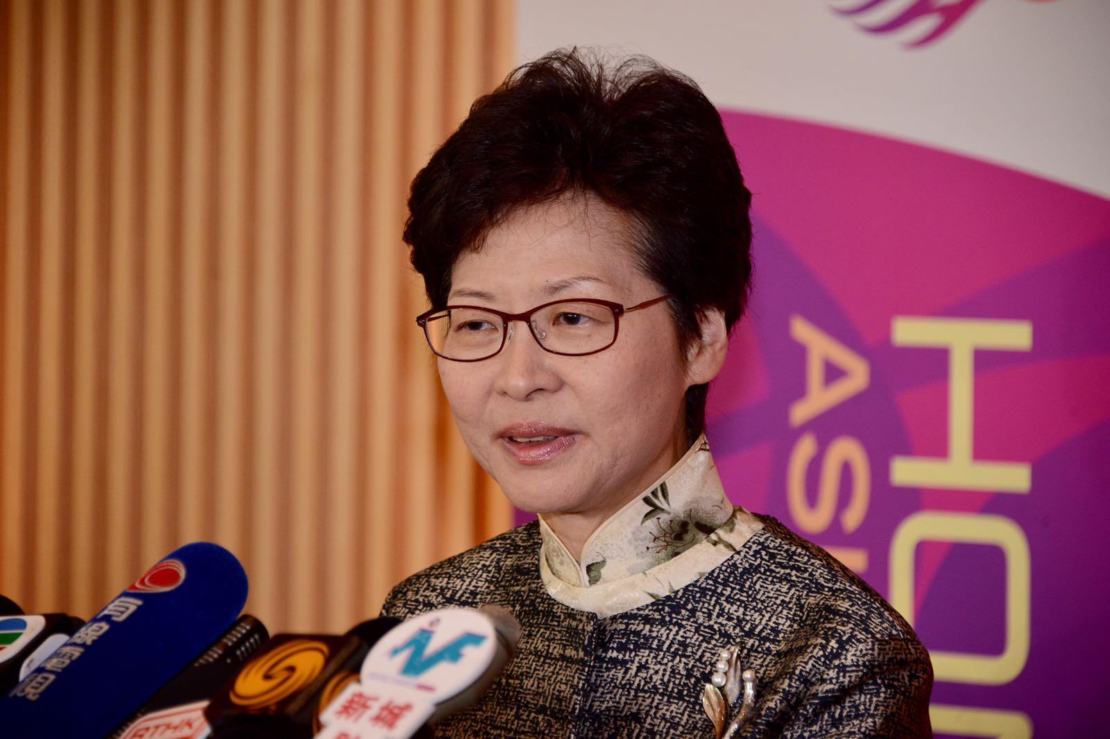 據悉,行政長官林鄭月娥和部份主要官員本周三晚上7時至9時在政府總部舉行「對話會」。資料圖片