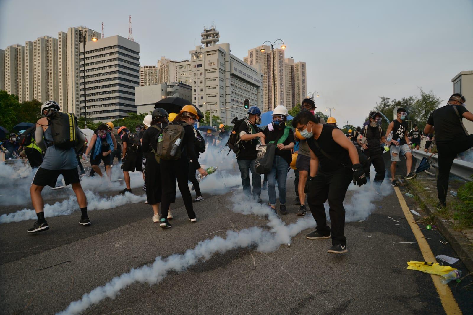 警方形容示威活動越演越烈,暴力逐步升級,警方一直保持高度克制,務求令社會恢復秩序。資料圖片
