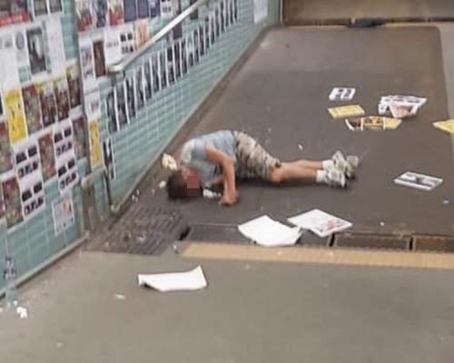 涉襲擊新蒲崗連儂隧道人士 六旬翁被淋膠水毆傷