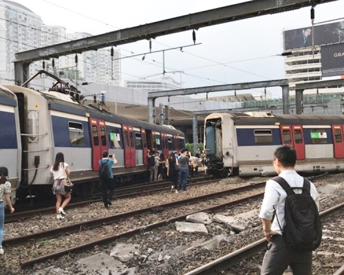 港鐵紅磡站有列車出軌 紅磡至旺角東站服務暫停
