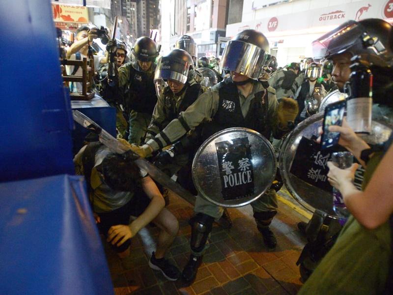 林鄭月娥指批評警方選擇性執法的說法極不公道。資料圖片