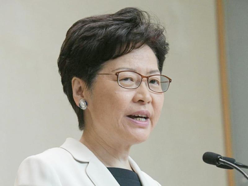 林鄭指有公務員參與示威被捕。