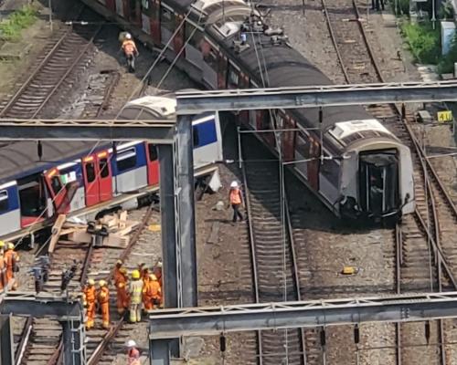 【港鐵出軌】至少3名乘客不適 清醒送院