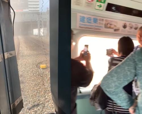 【港鐵出軌】出軌後有乘客受驚嚎哭叫救命 喊「好彩無反轉咋」(片段)