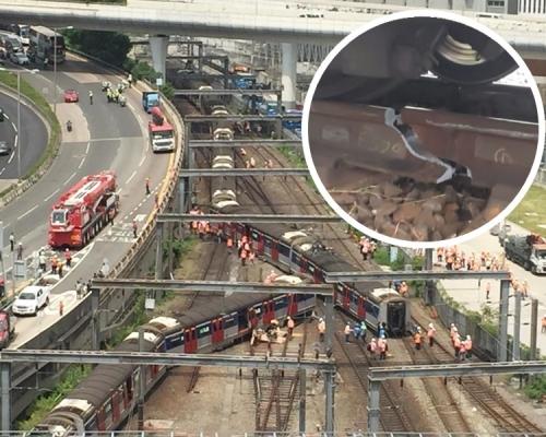 【港鐵出軌】三卡車廂偏離路軌 劉天成:今日或未能恢復紅磡至旺角東服務
