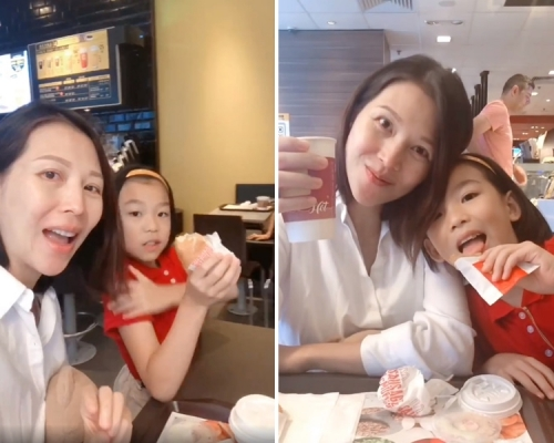 【打者愛也?】「揮拳」賀媽媽生日蔡少芬帶兩名女兒吃早餐