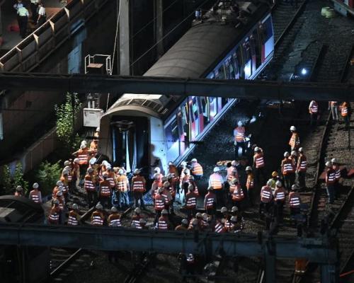 【港鐵出軌】最後一節車卡移回路軌 港鐵爭取周三恢復紅磡站服務