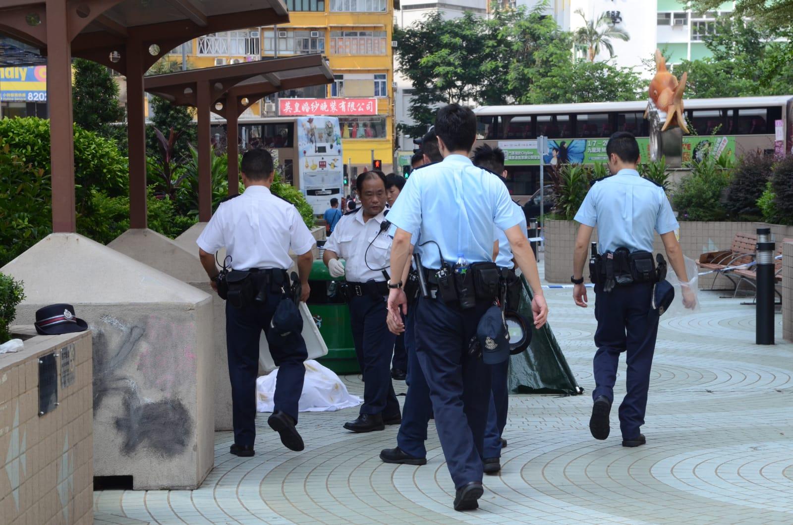 警方在場調查。 歐陽偉光攝