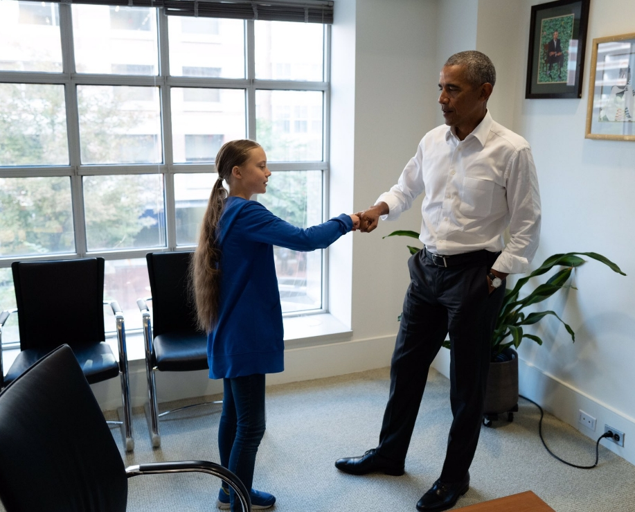 奧巴馬會晤通貝里,讚其「地球上最偉大的倡議者」。奧巴馬twitter