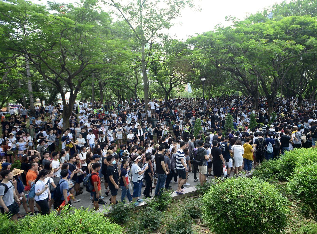 該關注組計劃本周六再發起「屯門公園再光復遊行」,獲警方反對。資料圖片