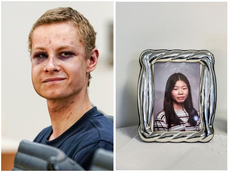 挪威男子曼斯海于斯疑因種族仇恨殺死華裔繼妹約翰妮。網圖