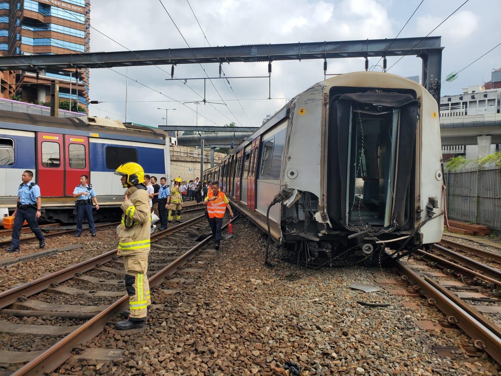 港鐵紅磡站9月17日早上發生列車出軌事故。資料圖片