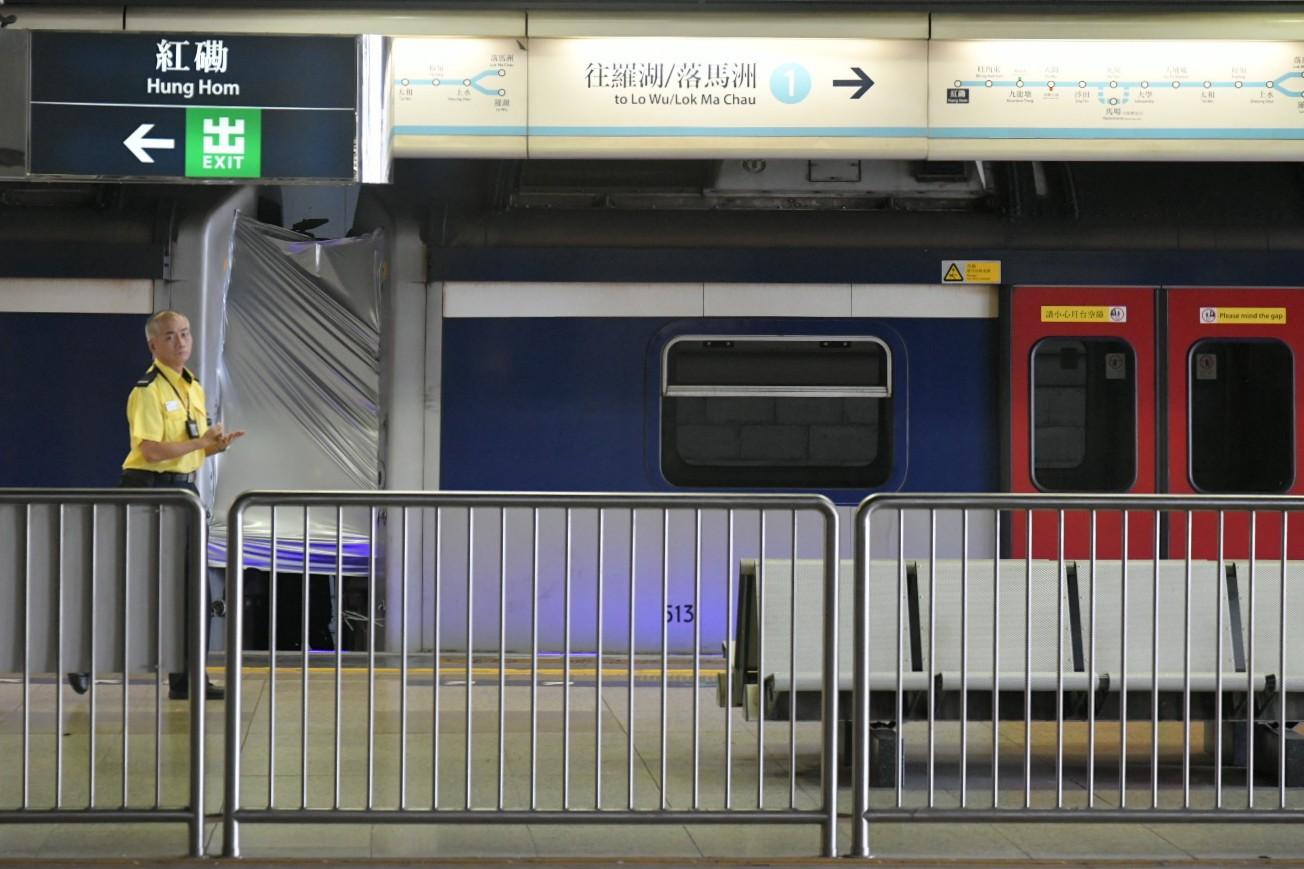 紅磡站今天仍然使用一個月台。