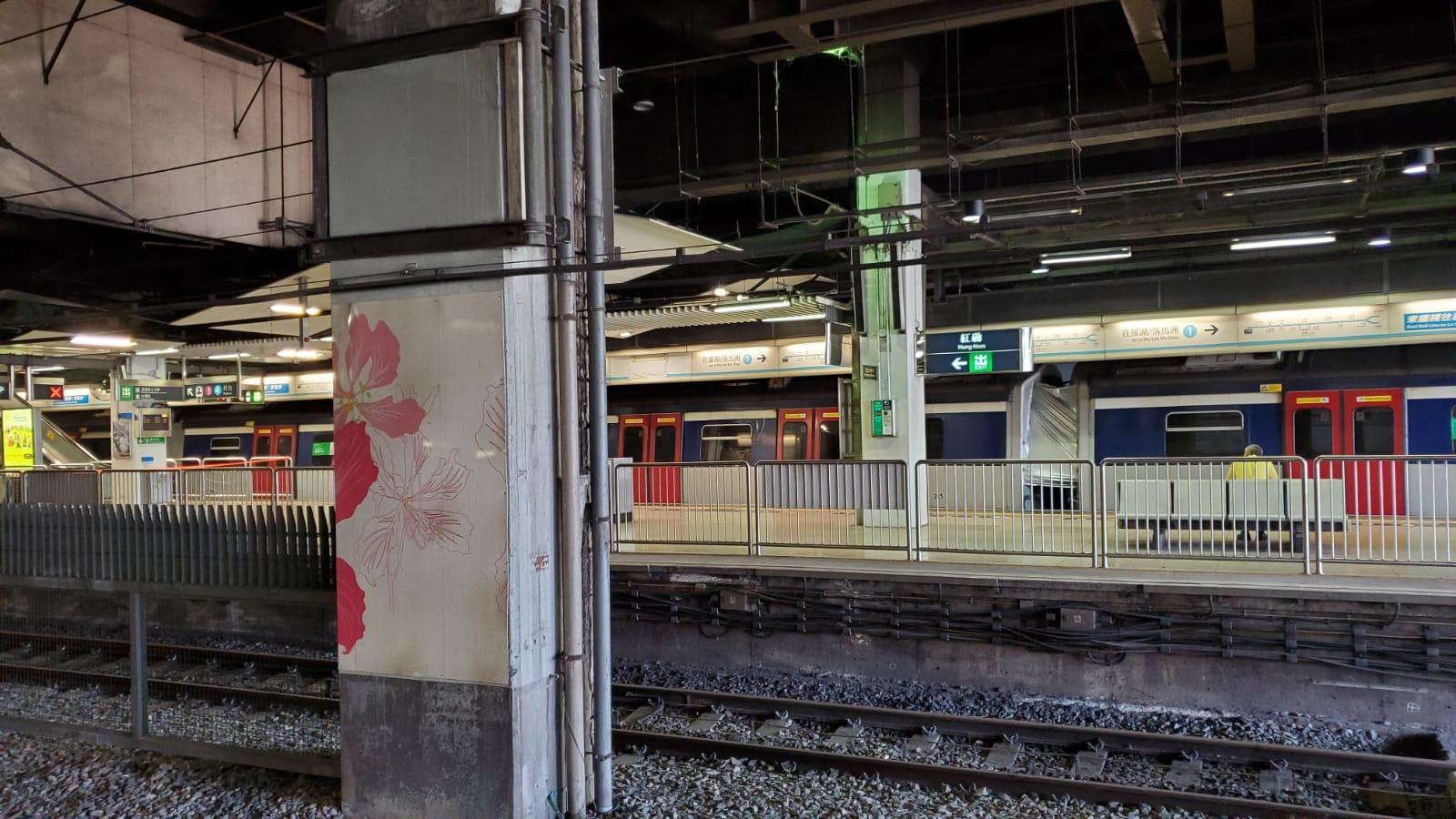 紅磡站今日仍用一個月台維持東鐵服務。 歐陽偉光攝