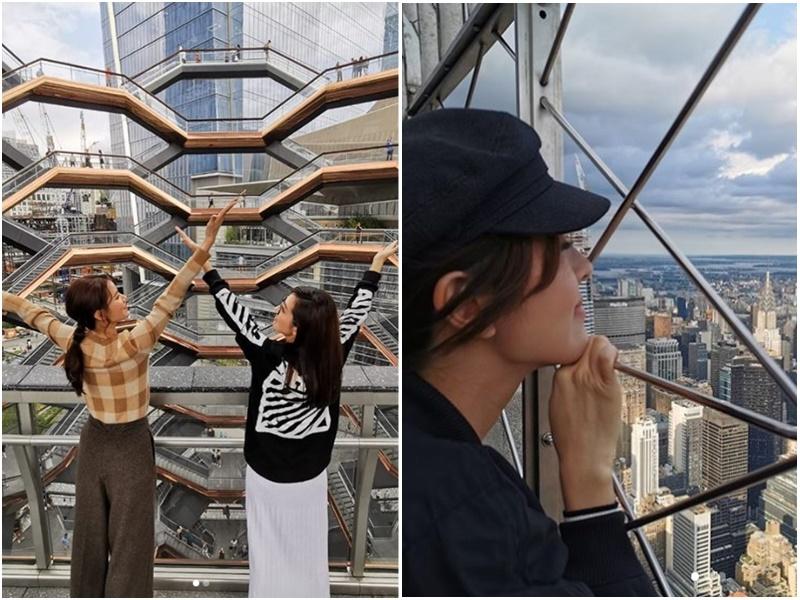 唐詩詠同黃翠如早前結伴遊紐約。網上圖片