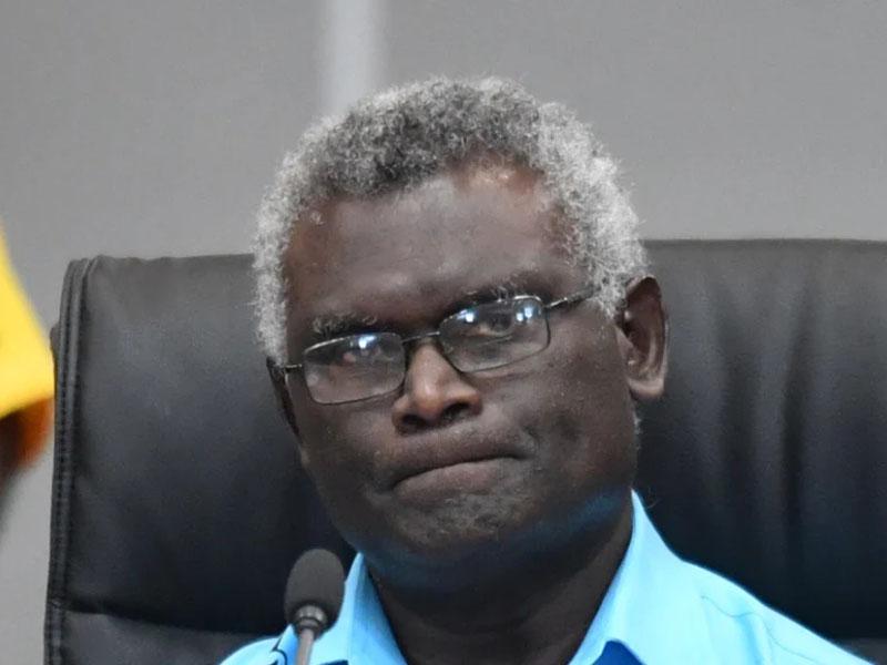 所羅門總理索加瓦雷(Manasseh Sogavare)。AP資料圖片