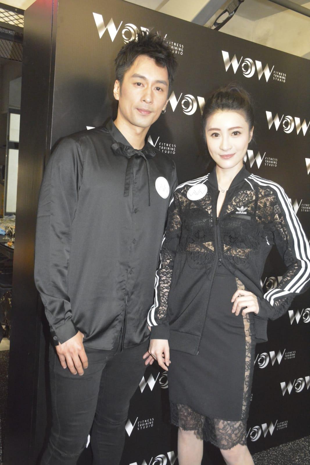 林夏薇出席陳偉成投資健身室開幕