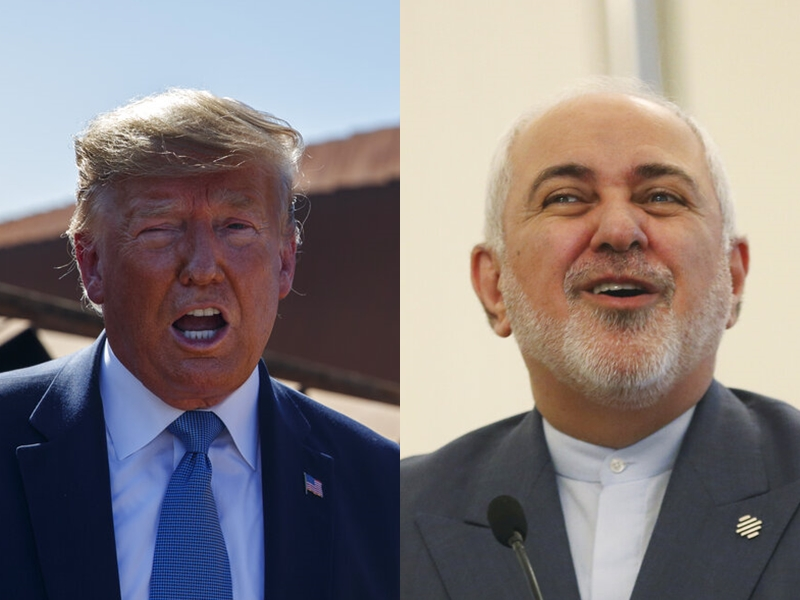 伊朗外交部長扎里夫表示,若美國或沙烏地對伊朗採取軍事打擊,伊朗將發動「全面戰爭」。 AP