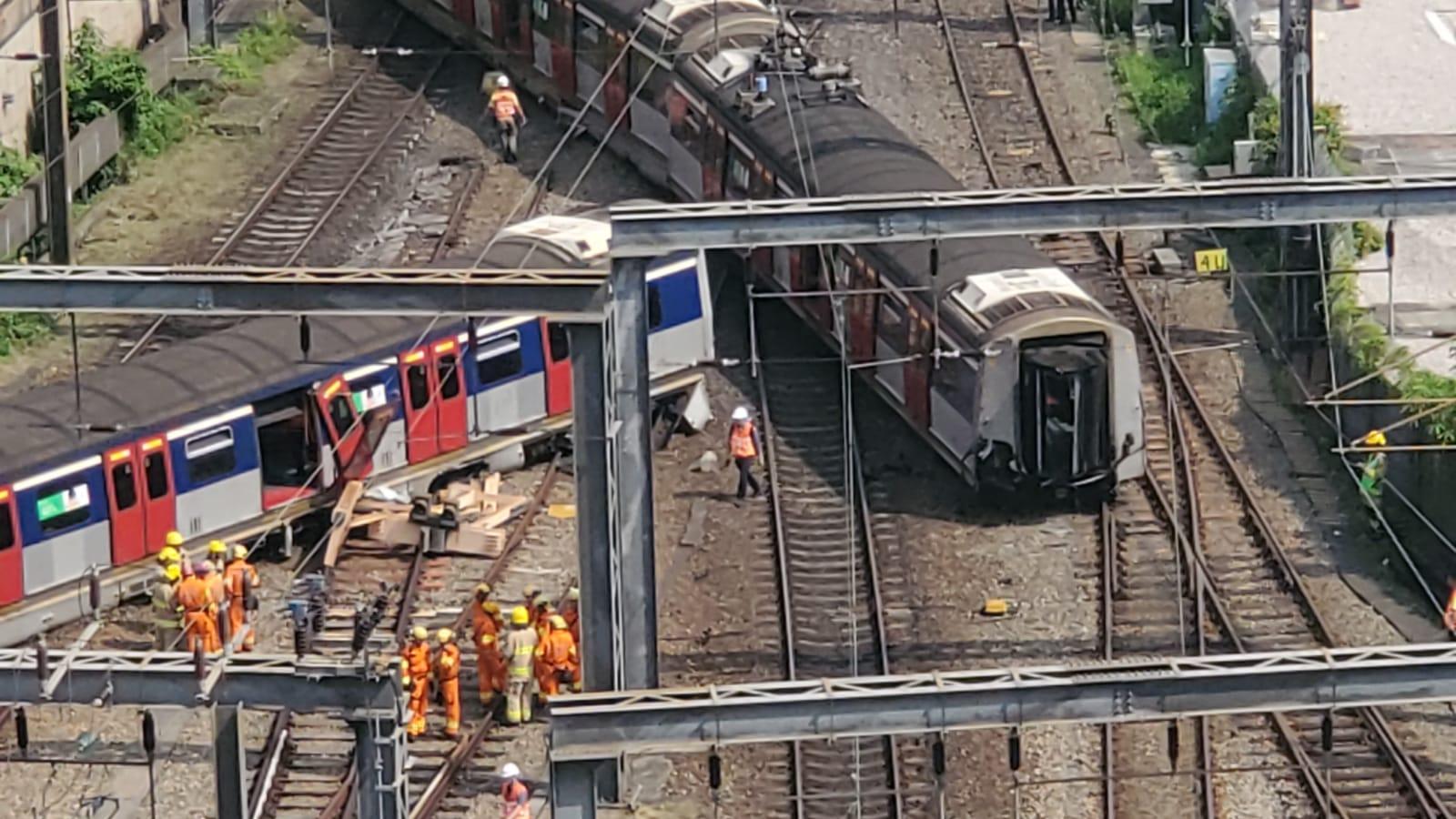 東鐵綫紅磡站周二有列車出軌。資料圖片