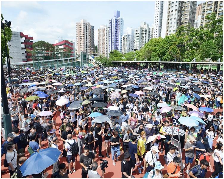 7月6日舉行曾舉行「光復屯門公園」遊行。資料圖片