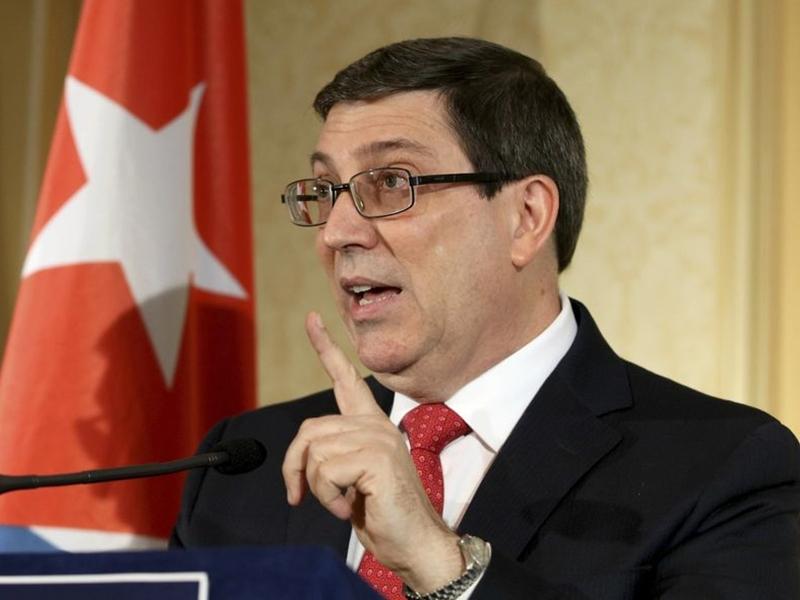古巴外長羅德里格斯迅速作出回應,指美方的做法不合情理,中傷古巴的代表和人員。 AP