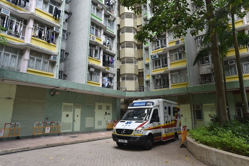 2017年耀東邨該單位曾發生倫常命案。資料圖片