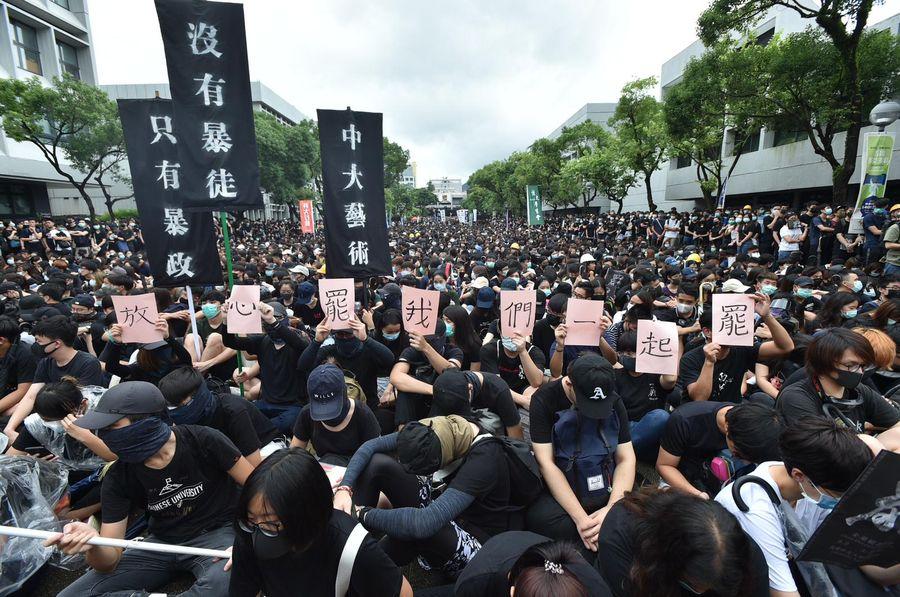 中文大學校園被用作罷課集會。資料圖片