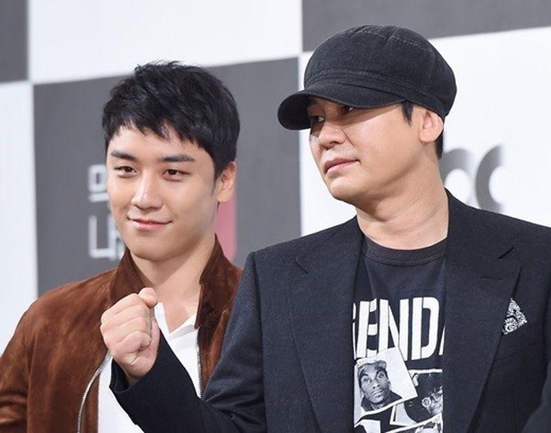 勝利(左)、梁鉉錫(右)。