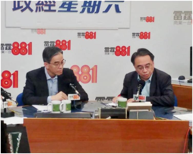 劉天成指港鐵保安員數目已由原來的100人大增至約600人。右為金澤培。