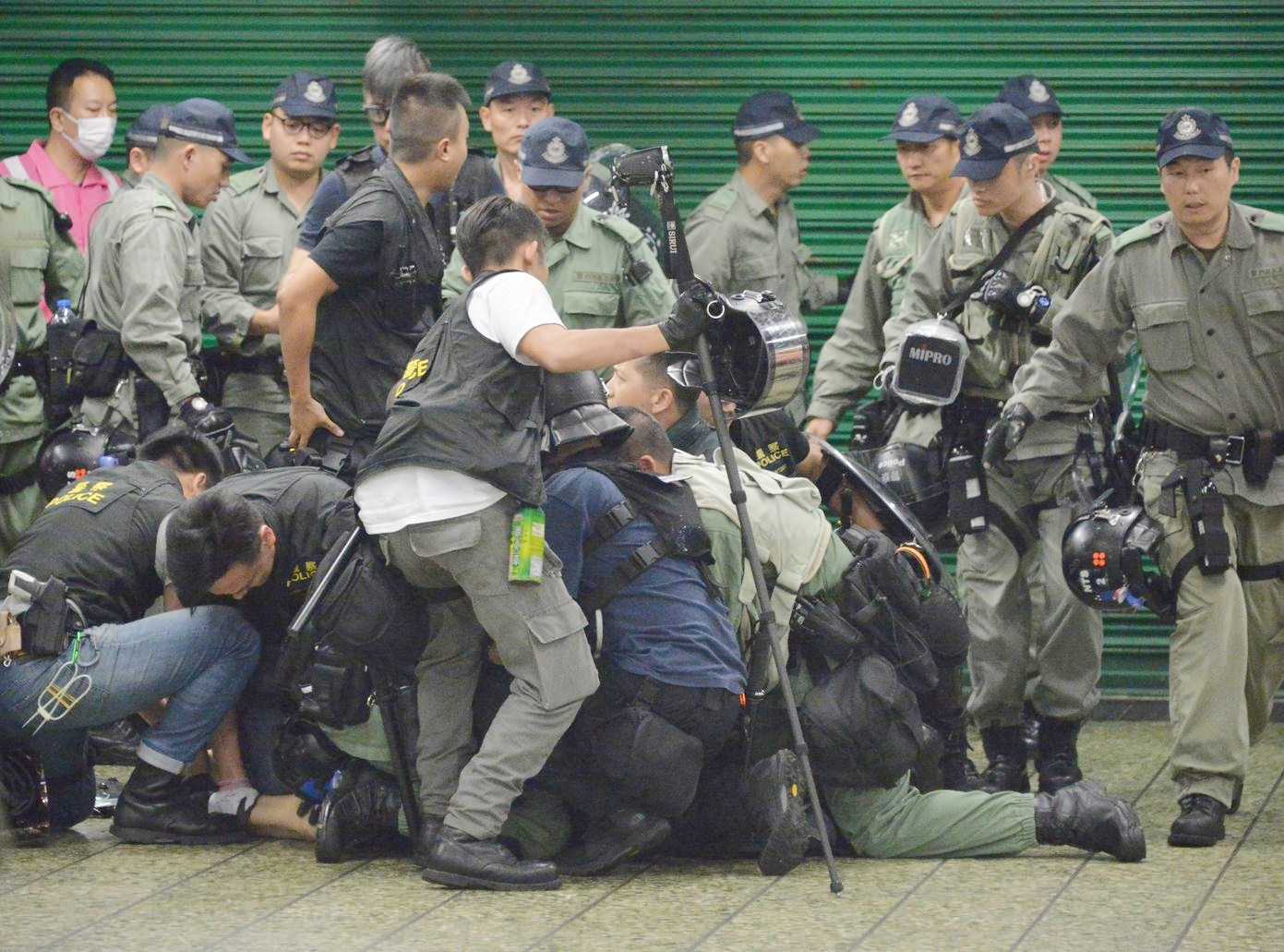 國際特赦組織的報告早前批評香港警察濫用暴力。資料圖片