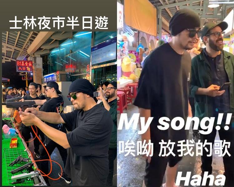 周杰倫在路邊攤玩射擊,聽到店家播他的新歌還高叫:My Song!(ig圖片)